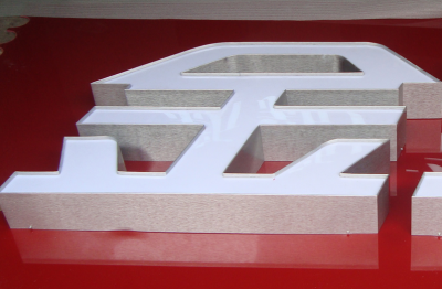 Aluminum channel letter sign