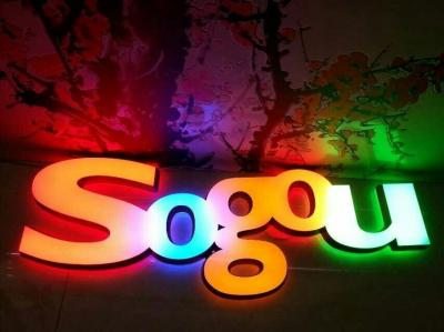 LED Front lit Epoxy resin letter sign